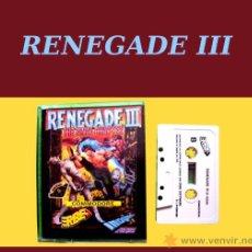 Videojuegos y Consolas: RENEGADE III CLÁSICO JUEGO CINTA DE CASSETTE PARA COMMODORE 64 / 128. Lote 24582987