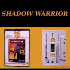 Videojuegos y Consolas: SHADOW WARRIOR - CLÁSICO JUEGO CINTA DE CASSETTE COMMODORE 64 / 128. Lote 24582948