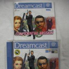 Videojuegos y Consolas: ANTIGUO JUEGO DREAMCAST CONFIDENTIAL MISSION. Lote 33758761