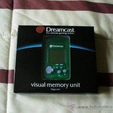 Videojuegos y Consolas: MEMORIA DREAMCAST VMU VERDE OFICIAL DE SEGA - NUEVO. Lote 105256584