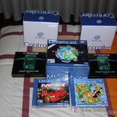 Videojuegos y Consolas: 2 MANDOS ,2 MEMORIAS , MICROFONO+JUEGO; JET SET RADIO Y MSR - NUEVOS PARA DREAMCAST. Lote 58104366