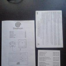 Videojuegos y Consolas: SEGA DREAMCAST MANUAL + GARANTIA+ TARJETA EXTRA TODO MULTILENGUAJE ORIGINAL LEE R6503. Lote 95374003