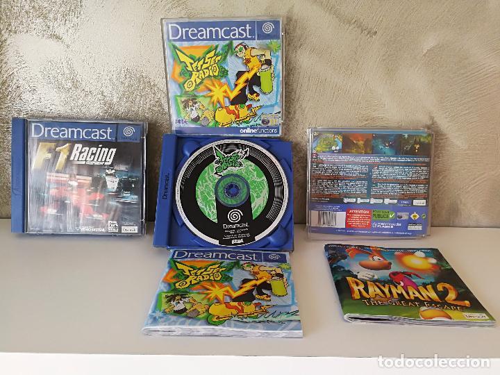 LOTE DREAMCAST JET SET RADIO RAYMAN 2 F1 (Juguetes - Videojuegos y Consolas - Sega - DreamCast)
