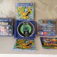 Videojuegos y Consolas: LOTE DREAMCAST JET SET RADIO RAYMAN 2 F1 . Lote 100368351