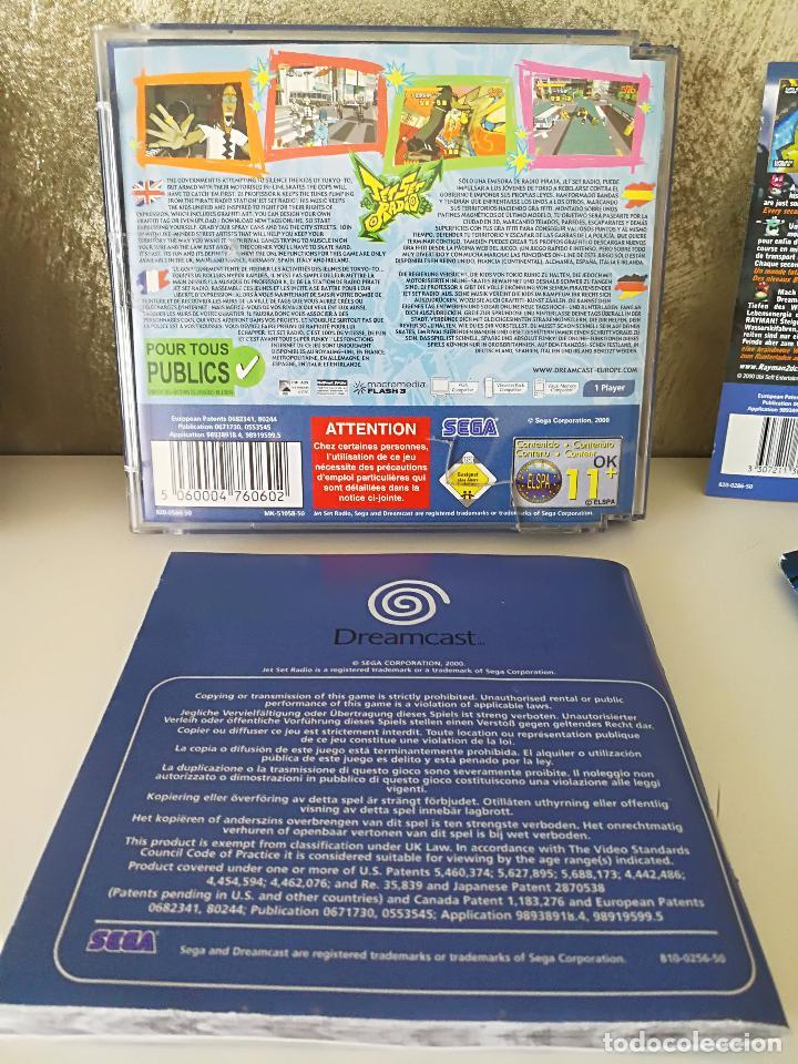 Videojuegos y Consolas: LOTE DREAMCAST JET SET RADIO RAYMAN 2 F1 - Foto 5 - 100368351
