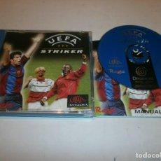 Videojuegos y Consolas: UEFA STRIKER DREAMCAST PAL ESPAÑA COMPLETO . Lote 103580319