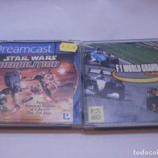 Videojuegos y Consolas: DOS JUEGOS DE DREAMCAST STAR WARS F1 WORLD GRAND PRIX . Lote 151933986