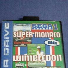 Videojuegos y Consolas: JUEGOS DE SEGA SUPERMONACO /WIMBLEDON/ULTIMATE SOCCER. Lote 152097660