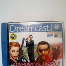Videojuegos y Consolas: JUEGO DREAMCAST-CONFIDENTIAL MISSION. Lote 172729619