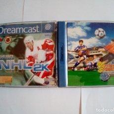 Videojuegos y Consolas: LOTE DE 2JUEGO DREAMCAST-SEGA SPORTS NHL 2K-VIRTUA STRIKER 2 VER.2000.1. Lote 172765543