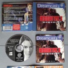 Videojuegos y Consolas: SEGA DREAMCAST RESIDENT EVIL 3 NEMESIS COMPLETO CON CAJA Y MANUAL BOXED CIB PAL R10922. Lote 205251906