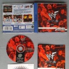 Videojuegos y Consolas: SEGA DREAMCAST WWF ATTITUDE COMPLETO CON CAJA Y MANUAL BOXED CIB PAL LEER R10896. Lote 206876306
