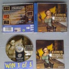 Videojuegos y Consolas: SEGA DREAMCAST TOMB RAIDER LAST REVELATION COMPLETO CAJA MANUAL CIB PAL LEER R10906. Lote 206876590