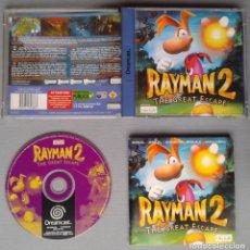 Videojuegos y Consolas: SEGA DREAMCAST RAYMAN 2 GREAT SCAPE COMPLETO CON CAJA Y MANUAL BOXED CIB PAL R10915. Lote 206876826