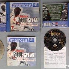 Videojuegos y Consolas: LOTE SEGA DREAMCAST RAINBOW SIX ROGUE SPEAR + EAGLE WATCH COMPLETO BOXED CIB PAL R10918. Lote 206876873