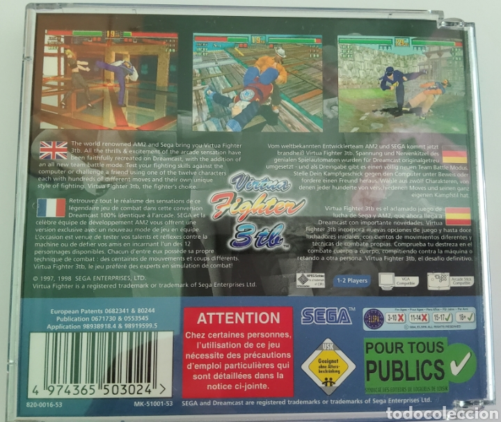 Videojuegos y Consolas: Virtual Fighters 3 tb pal españa - Foto 3 - 219162040