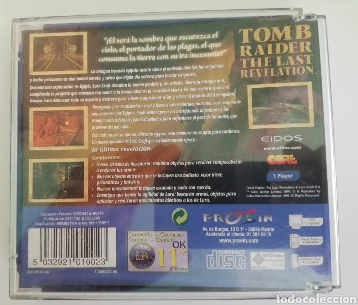 Videojuegos y Consolas: Tomb Raider The Last Revelation pal españa - Foto 2 - 219165442
