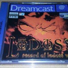 Videojuegos y Consolas: LODOSS DREAMCAST COMPLETO PAL EUR RECORD OF LODOSS WAR. Lote 221773710