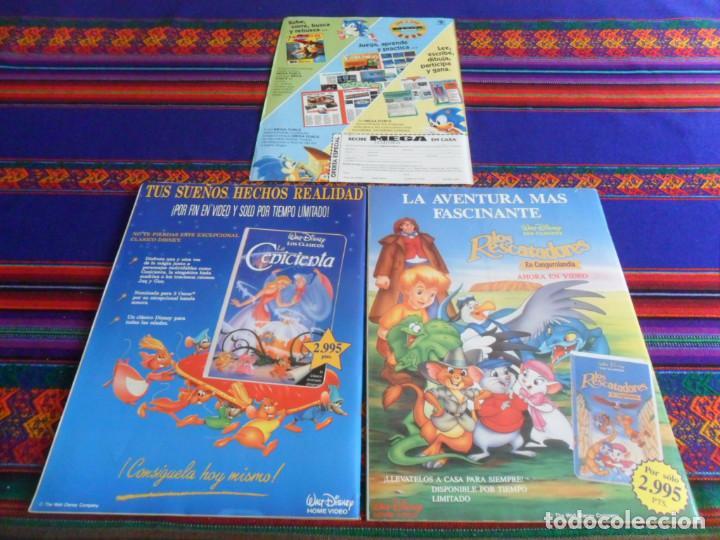 Videojuegos y Consolas: LA REVISTA DE LOS JUEGOS SEGA MEGA FORCE NºS 1 Y 6 CON PÓSTER Y FLYER CON REGALO. 1992. MBE. RARAS. - Foto 2 - 238549500
