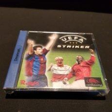 Videojuegos y Consolas: JUEGO UEFA STRIKER PARA SEGA DREAMCAST. FUNCIONA. CON MANUAL. CAJA EN BUEN ESTADO. Lote 243048890