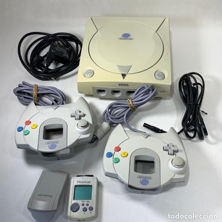 CONSOLA SEGA DREAMCAST + 2 MANDOS + CABLES - FUNCIONA (Juguetes - Videojuegos y Consolas - Sega - DreamCast)