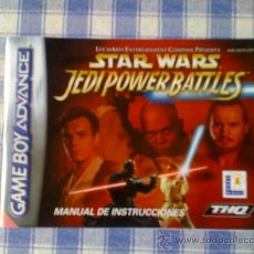 Videojuegos y Consolas: STAR WARS JEDI POWER BATTLES MANUAL DE INSTRUCCIONES NINTENDO GAMEBOY ADVANCE GBA MANUAL USUARIO. Lote 27660728