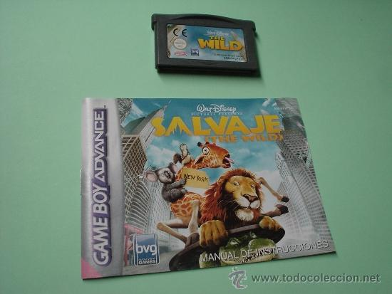 JUEGO SALVAJE. THE WILD. GAMEBOY ADVANCE. GAME BOY. WALT DISNEY. CON INSTRUCCIONES CASTELLANO. (Juguetes - Videojuegos y Consolas - Nintendo - GameBoy Advance)