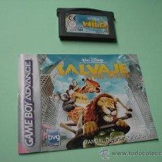 Videojuegos y Consolas: JUEGO SALVAJE. THE WILD. GAMEBOY ADVANCE. GAME BOY. WALT DISNEY. CON INSTRUCCIONES CASTELLANO.. Lote 32015591