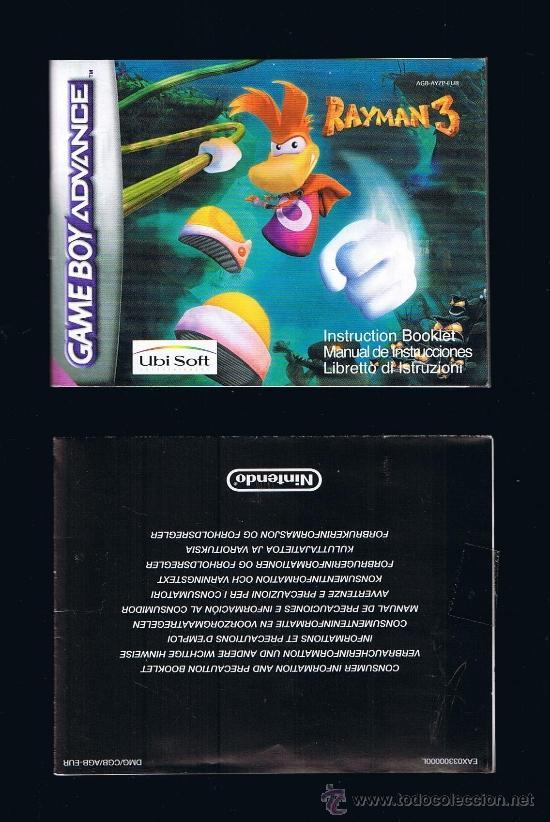 GAME BOY ADVANCE - RAYMAN3 - INSTRUCCIONES/INSTRUCTION BOOKLET (Juguetes - Videojuegos y Consolas - Nintendo - GameBoy Advance)