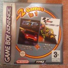 Videojuegos y Consolas: 2 JUEGOS EN 1 - GT 3 ADVANCE PRO CONCEPT RACING + MOTOGP ULTIMATE RACING TECHNOLOGY - GBA ¡¡NUEVO!!. Lote 36763777