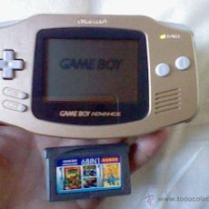 Videojogos e Consolas: GAMEBOY ADVANCE DORADA GOLD COLOR ORO + JUEGO 68 EN 1 NINTENDO GAME BOY MUY RARA. Lote 41459450
