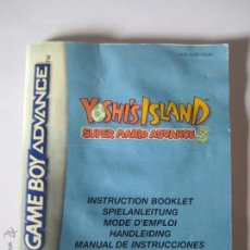 Videojuegos y Consolas: MANUAL DE INSTRUCCIONES YOSHIS ISLAND SUPER MARIO ADVANCE3 GAMEBOY ADVANCE. Lote 43581859