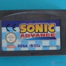 Videojuegos y Consolas: SONIC ADVANCE GAME BOY ADVANCE SEGA NINTENDO ORIGINAL. Lote 44218584