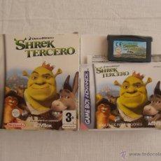 Videojuegos y Consolas: JUEGO SHREK TERCERO GAMEBOY ADVANCE NINTENDO GAME BOY GBA. Lote 44274342