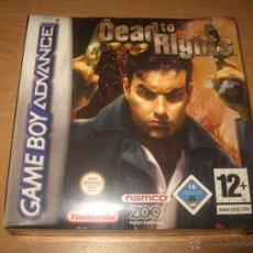 Videojuegos y Consolas: DEAD TO RIGHTS GAMEBOY ADVANCE PAL ESPAÑA PRECINTADO NAMCO. Lote 45034003