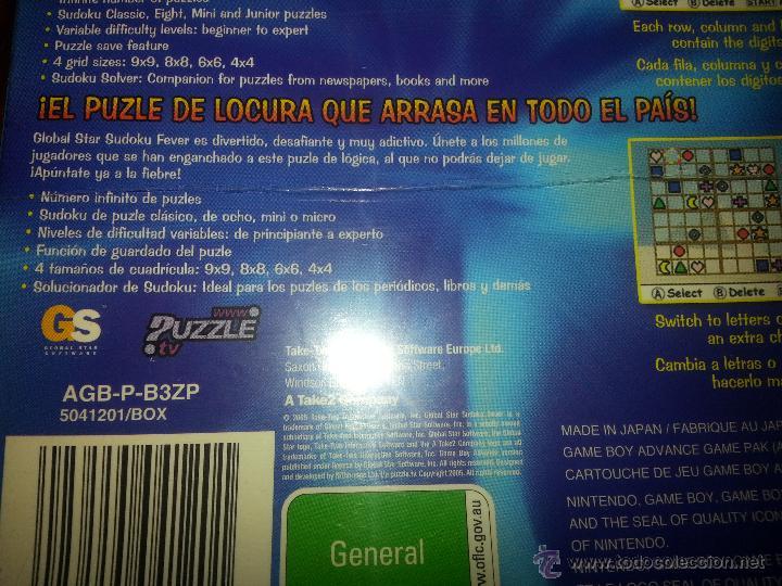 Videojuegos y Consolas: Sudoku Fever Junior- NUEVO A ESTRENAR - PRECINTADO - GameBoy Advance - Game boy - Foto 2 - 173477358