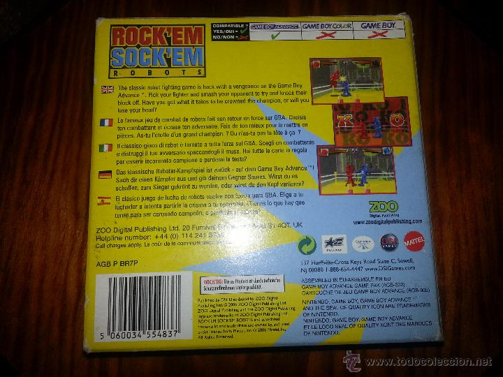 Videojuegos y Consolas: Rocken Socken Robots -Completo - Único en todocoleccion - Game Boy Advance - rock en sock en - Foto 2 - 45095337