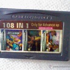 Jeux Vidéo et Consoles: CARTUCHO 108 JUEGOS EN 1 GAME BOY GAMEBOY ADVANCE CREO CLONICO PROBADO. Lote 144845864