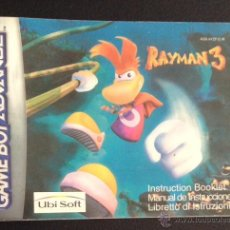 Videojuegos y Consolas: MANUAL DE INSTRUCCIONES ORIGINAL GAME BOY ADVANCE RAYMAN 3 GAMEBOY. Lote 49699746