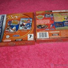Videojuegos y Consolas: GAME BOY ADVANCE GBA SONIC BATTLE + SONIC PINBALL PARTY NUEVO PAL NEW & SEALED. Lote 210202711