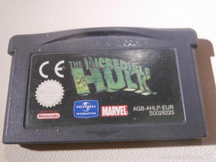 JUEGO PARA CONSOLA - GAME BOY - ADVANCE - EL INCLEIBLE HULK - THE INCREDIBLE HULK - (Juguetes - Videojuegos y Consolas - Nintendo - GameBoy Advance)