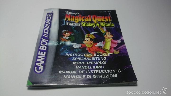 MANUAL INSTRUCCIONES - MAGICAL QUEST ( GAMEBOY ADVANCE) (Juguetes - Videojuegos y Consolas - Nintendo - GameBoy Advance)
