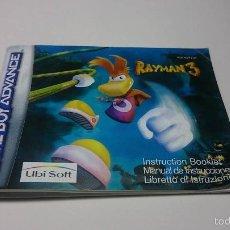 Videojuegos y Consolas: MANUAL INSTRUCCIONES - RAYMAN 3 ( GAMEBOY ADVANCE). Lote 56817721