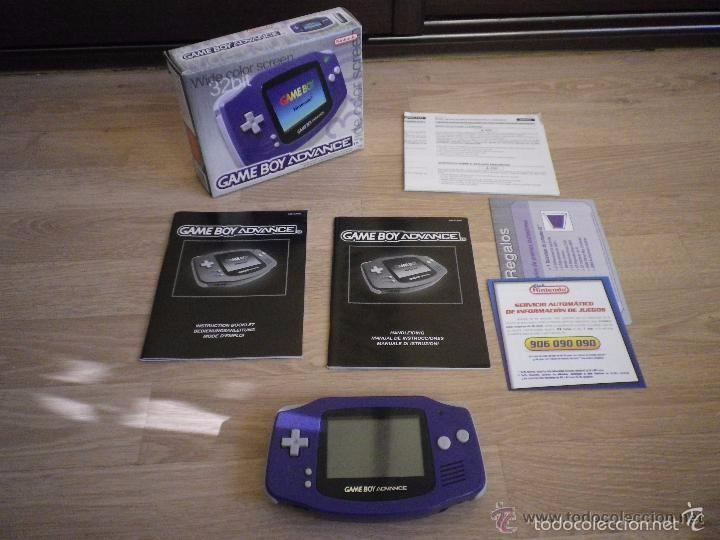 CONSOLA NINTENDO GAMEBOY ADVANCE COMPLETA VERSION ESPAÑOLA (Juguetes - Videojuegos y Consolas - Nintendo - GameBoy Advance)