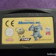 Videojuegos y Consolas: JUEGO PARA CONSOLA - GAME BOY - ADVANCE - MONSTERS INC. - AGB-AMXX-EUR. Lote 61645304