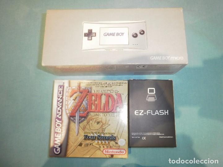 Gameboy advance micro plata + zelda a link to t - Sold