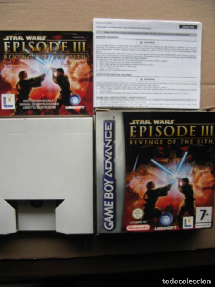 GAME BOY ADVANCE STAR WARS EPISODE III (SOLO CAJA Y MANUAL DE INSTRUCCIONES) (Juguetes - Videojuegos y Consolas - Nintendo - GameBoy Advance)