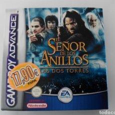 Videojuegos y Consolas: JUEGO GAMEBOY ADVANCE NUEVO EL SEÑOR DE LOS ANILLOS, LAS DOS TORRES. Lote 85483272