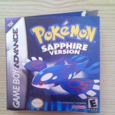 Videojuegos y Consolas: POKEMON SAPPHIRE VERSION - GAME BOY ADVANCE (ENGLISH) (SIN INSTRUCIONES). Lote 113658240