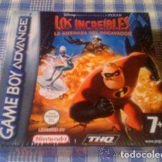 Videojuegos y Consolas: LOS INCREÍBLES LA AMENAZA DEL SOCAVADOR PARA GAMEBOY ADVANCE GBA Y DS COMPLETO NUEVO PRECINTADO. Lote 97969343
